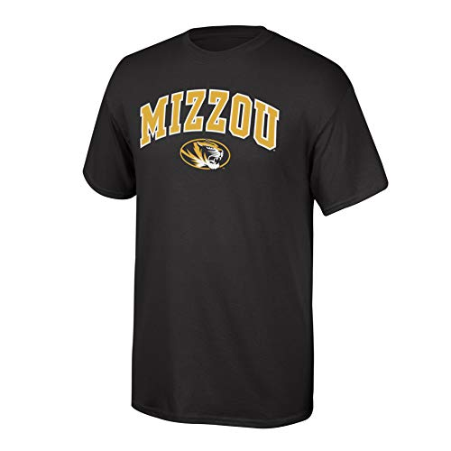 (Elite Fan Shop NCAA Men's Missouri Tigers T Shirt Team Color Arch Missouri Tigers Black Large)