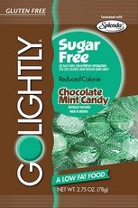 GoLightly Sugar Free Chocolate Mint Candy, 2.75-Ounce Bags (2 ()