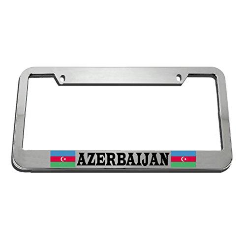 Speedy Pros Azerbaijan Flag Country License Plate Frame Tag Holder