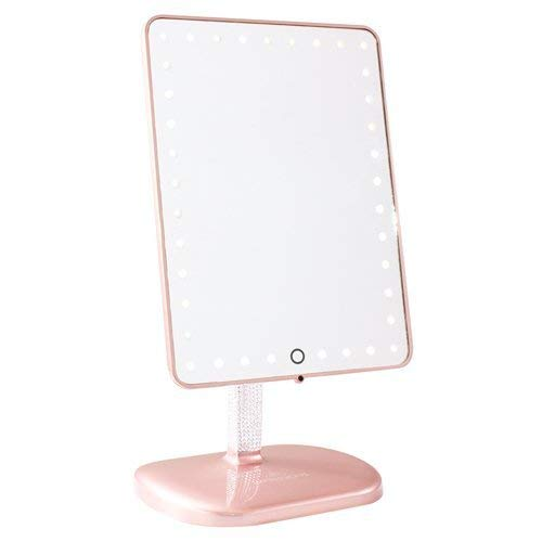 Impressions Vanity Touch Pro LED Makeup Mirror with Wireless Bluetooth Audio + Speakerphone & USB Charger (BrittanyBear Rose Gold Bling Edition)
