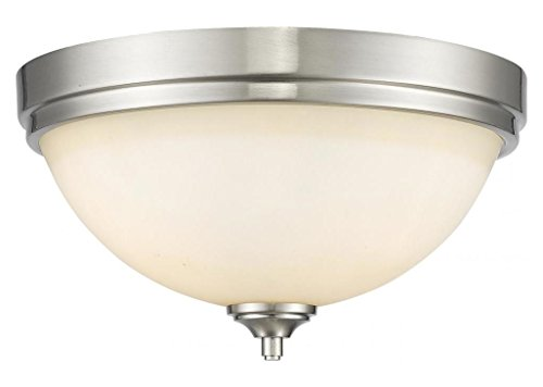 435F3-BN Brushed Nickel Bordeaux 3 Light Flush Mount Ceiling Fixture with Matte Opal Glass Shade
