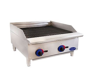 Globe Food C24CB-SR Chefmate 24'' Radiant Gas Charbroiler by Globe Food Equipment
