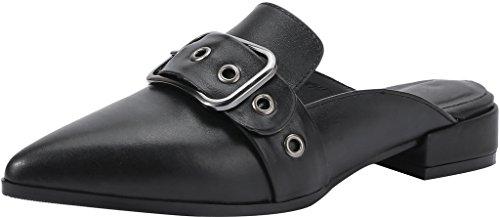 Cashould sabots Sur Glisser Noir Mules 3CM et Calaier Chaussures Femme Bloc WCfw5xqC8g