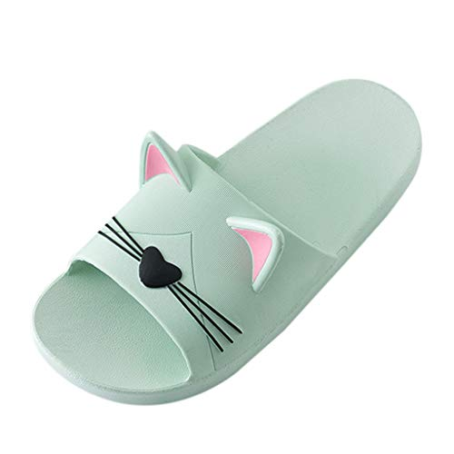 LISTHA Home Indoor Slippers Men Women Cartoon Cute Cat Floor Beach Shoes Sandals