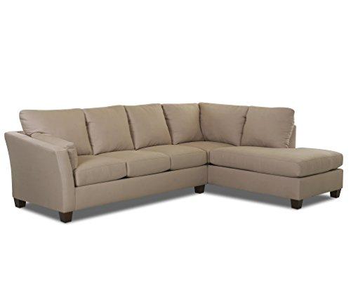 Klaussner E16 Drew Sectional Left Sofa/ Right Chaise, Khaki
