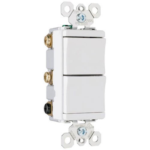 Pass & Seymour TM813WCC6 Single Pole Decorator Switch 15-Amp 120-volt/277-volt, (Pass & Seymour 4 Way)