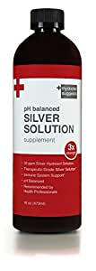 30ppm, Triple Strength pH Balanced Colloidal Solution – Daily Colloidal Silver Supplement for Immune Health – 16oz Bottle of Silver Water