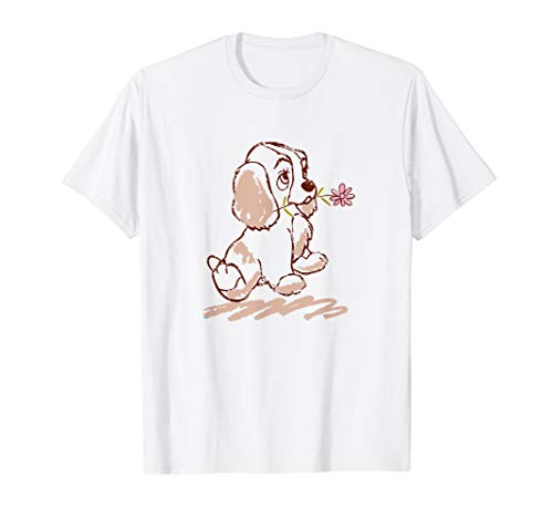 Disney Lady and the Tramp Lady Puppy Sketch  T-Shirt