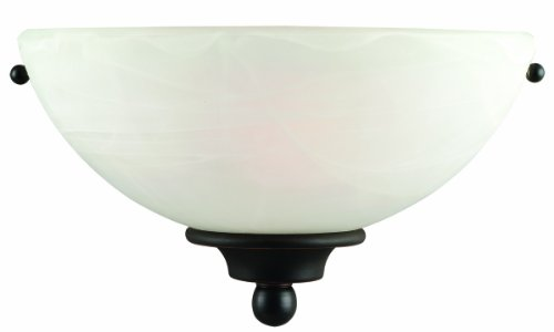 Light Alabaster Glass Sconce - 9