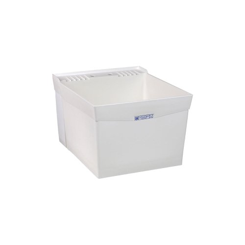 El Mustee 19W Utilatub 18-Gallon Wall-Mount Laundry/Utility Tub, 34 X 20 X 24 In, White by Mustee