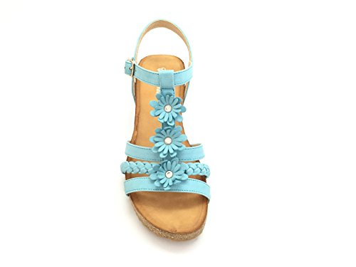 flores verde Verde corcho en compensada Sandale CHIC efecto algodón diseño NANA de 4CzqPwxx