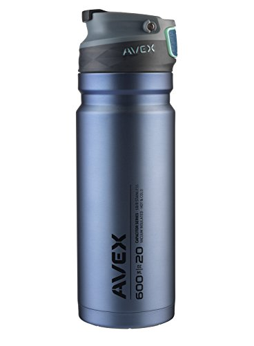(Avex Recharge Autoseal Stainless Steel Tumbler, Navy, 600 mL/20 oz)