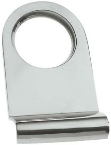Polished Chrome Victorian Rounded Yale Lock Surround / Door Pull (BC106) Original Forgery Ltd