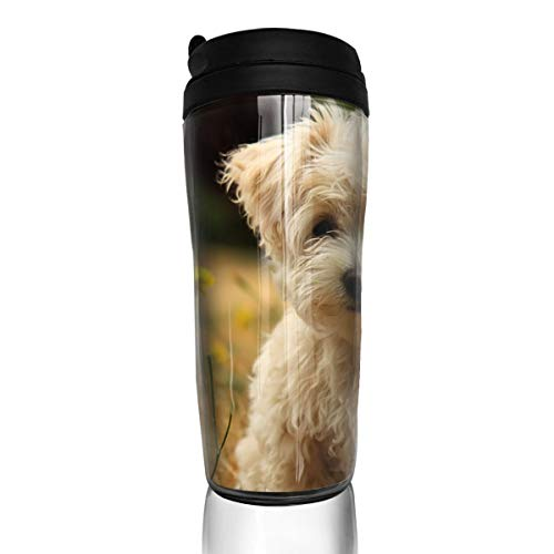 ZYGCMYX Cute Dogs Among The Flowers Printed Graphic Coffee Cup Insulated Travel Car Mug