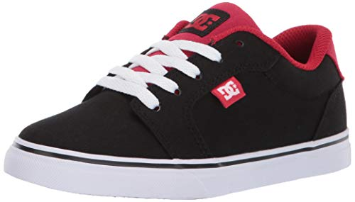 DC Boys' Anvil TX Sneaker, Black/Athletic RED, 2 M M US Little Kid