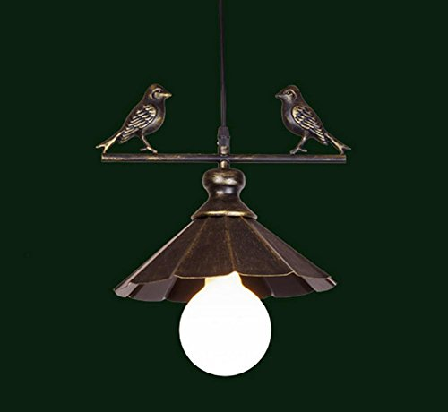 DMMSS Countryside Retro Simple Creative Bird Light Restaurant Living Room Bar Aisle Iron Single Head European Chandelier by DMMSS