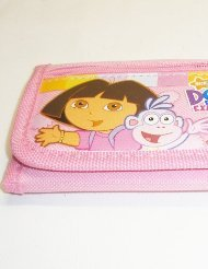 Dora The Explorer Tri-fold Wallet - Pink Dora The Explorer Wallet
