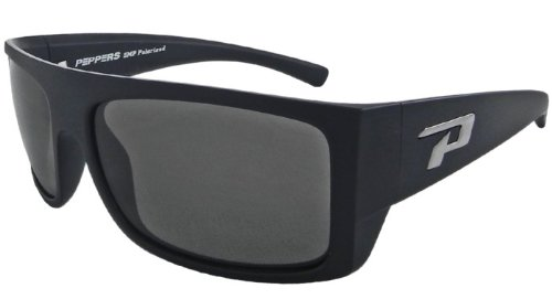Pepper's Eyeware Man-O-War LP448-1 MATTE BLACK Polarized - Man Sunglasses O War