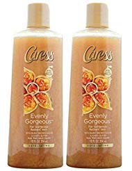 Caress Evenly Gorgeous With Burnt Brown Sugar & Karite Butter Body Wash 12 oz ( Pack of 2)