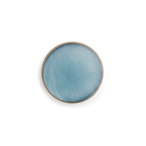 - DEMDACO Aqua and Gold Circle One Size Women's Zinc Alloy and Resin Fashion Magnet