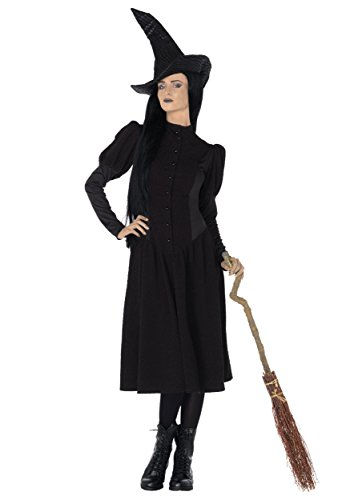Leg Avenue Women's Wicked 2 Piece Elphaba Witch Costume, Black, Small