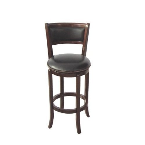 Set Of 2 Swivel Bar Stool 24seat High In Espresso Finish Ad 91140 Esp