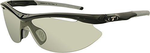 Tifosi Slip T-V145 Shield Sunglasses,Race Silver On Black Frame/Light Night Fototec Lens,One - Sunglasses Run