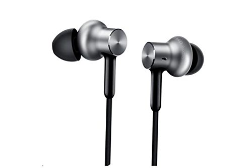 Pro Earbud Headphones (Xiaomi QTEJ02JY Original MI Circle Iron Hybrid Earphone Headphone Headset Earbud In-Ear Remote & Mic-Silver Pro HD version)