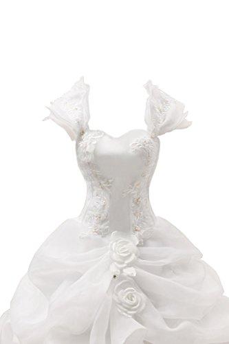 da raso sposa punta tempo in di donna applicazione con abiti a inox forma alto cuore in fiori Da Avorio vestimento acciaio Ivydressing qU6pxg