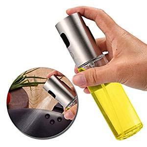 Leegoal Dispensador de aceite, dispensador de aceite de vidrio transparente apto para uso alimentario,