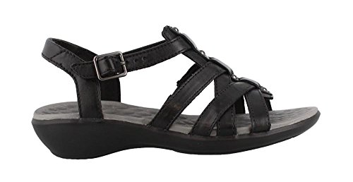 CLARKS Women's, Shelba Jacoby Mid Heel Sandals Black 10 M (Clarks Dress Sandals)
