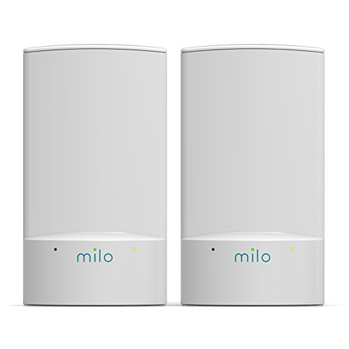Milo Wifi System (2-Pack) - Whole Home Distributed Wifi, BaseLink Network Technology, Coverage up to 2000 Sq. Ft. by Milo