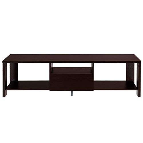 TANGKULA TV Stand Home Living Room Modern Wood Entertainment Media Center Storage Console w/Drawer and Display Shelf TV Cabinet (Espresso Stand) Review