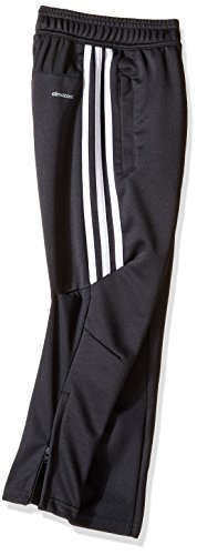 adidas Youth Soccer Tiro 17 Pants, Small - Dark Grey/White/White by adidas (Image #2)