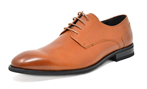 Brown Leather Oxford Shoes - 8