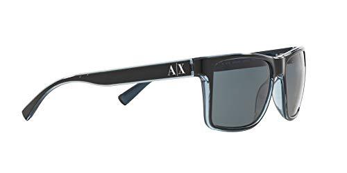 Sunglasses Exchange Armani AX 4016 805187 BLACK/TRANSP. BLUE GREY by A|X Armani Exchange (Image #10)