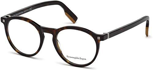 Ermenegildo Zegna Round Eyeglasses EZ5122 052 Dark Havana 50mm 5122 from Ermenegildo Zegna