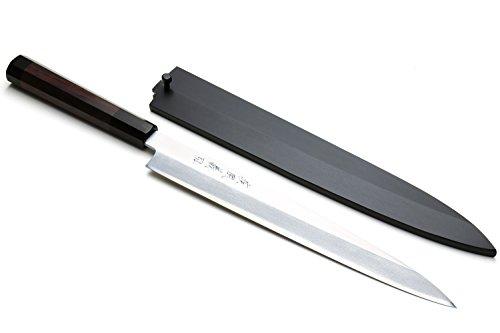 Yoshihiro VGYA240SH Stainless Hongasumi Yanagi Sushi Sashimi Japanese Chef Knife, 9.5'', Rosewood by Yoshihiro
