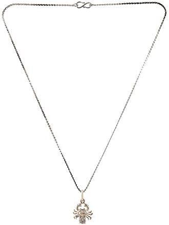 Efulgenz Silver Plated Cubic Zirconia Zodiac Libra Sign Pendant Chain Constellation Necklace Jewelry Birthday Gift