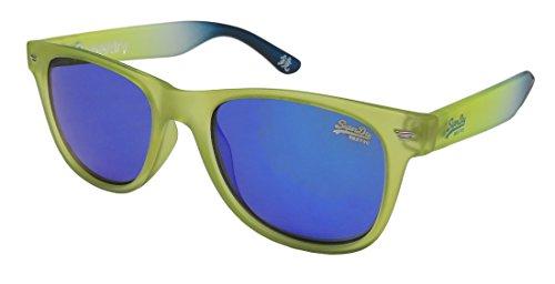 Superdry Sds Superfarer Mens/Womens Designer Full-rim Mirrored Lenses Sunglasses/Sun Glasses (50-19-145, Transparent Green / - Sunglasses Superdry Case