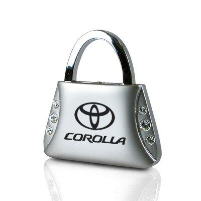 Toyota Corolla Clear Crystals Purse Shape Key Chain (Crystal Toyota Corolla)