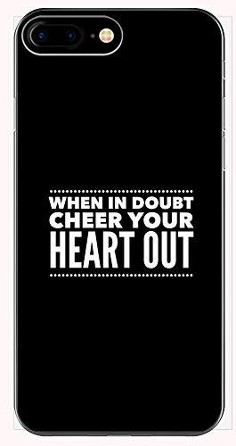 Cheerleading Coach Mug - When in Doubt Cheer Your Heart Out - Squad Gift Idea - Phone Case for iPhone 6+, 6S+, 7+, -