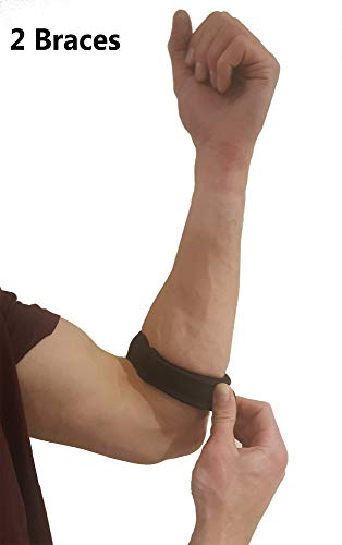 Tennis Elbow Strap Forearm Brace - Comfortable Tennis Elbow Brace for Tendonitis, Lateral Epicondylitis Pain Relief. Tennis Elbow Treatment or Golfers Elbow Band for Compression & Elbow Support