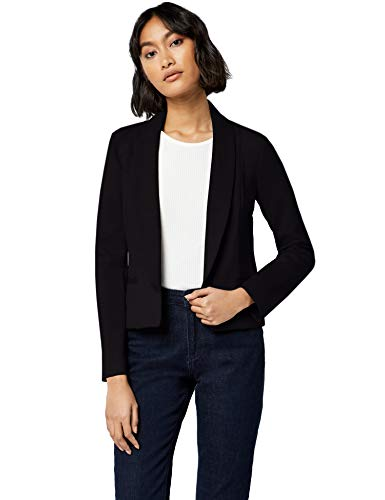 Collar Fitted Blazer,  Black, S (US 4-6) ()