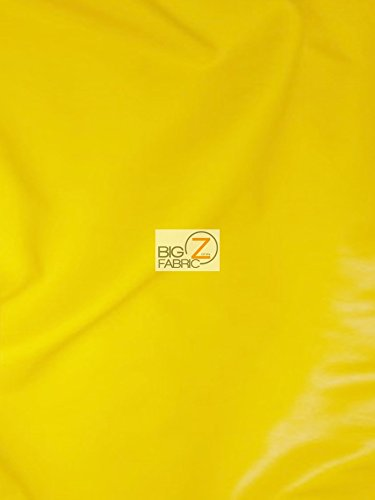 Solid Soft Faux Fake Leather Vinyl Fabric - Yellow - 54