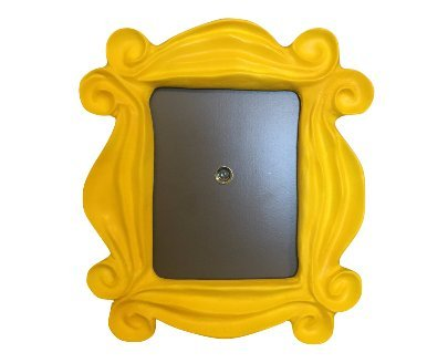 friends yellow peephole door frame as seen on monicas door on friends tv show