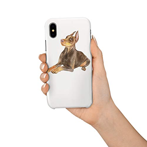 Durable Phone Case for iPhone X, Cute Pharaoh Hound Stylish Phone Shell Shockproof Protective Back Cover with Tempered Glass Screen Protector, Anti-Scratch