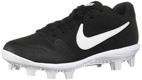 - Nike Men's Alpha Huarache Varsity Low MCS Baseball Shoe Black/White - Oil Grey 11.5 Regular US