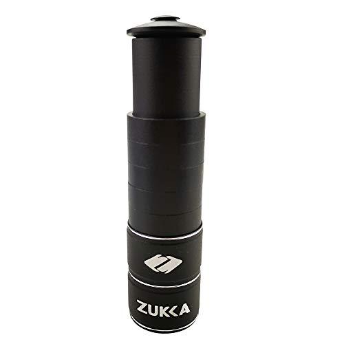 ZUKKA Bike Fork Stem Extender,Bicycle Handlebar Stem Riser,Adjustable Bike Stem Riser,Aluminium Alloy Head Up adapter1-1/8 inches Bike Neck Extender ()