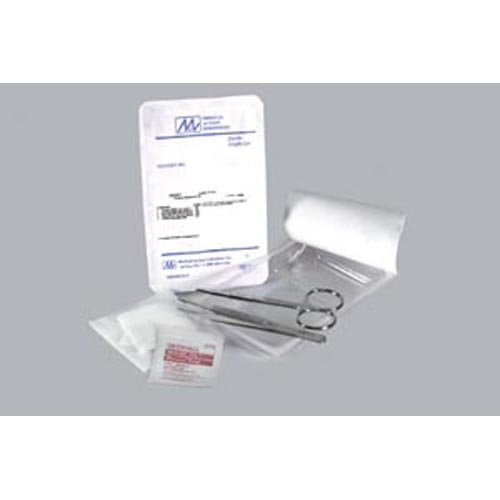 Suture Removal Kit Includes: (1) Forceps (Adson SS 43/4''), (1) Scissor (Littauer SS 4-1/2''), (1) 3'' x 3'' 4-Ply NW Gauze, (1) Alcohol Prep